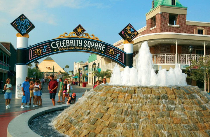 Celebrity square at broadway the beach myrtle