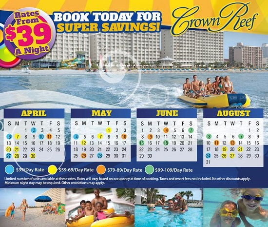 Crown Reef Summer 2014 hot rates