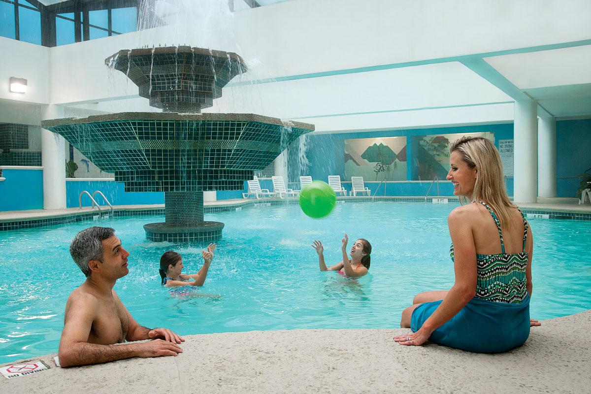 indoor pool at landmark resort, myrtle beach