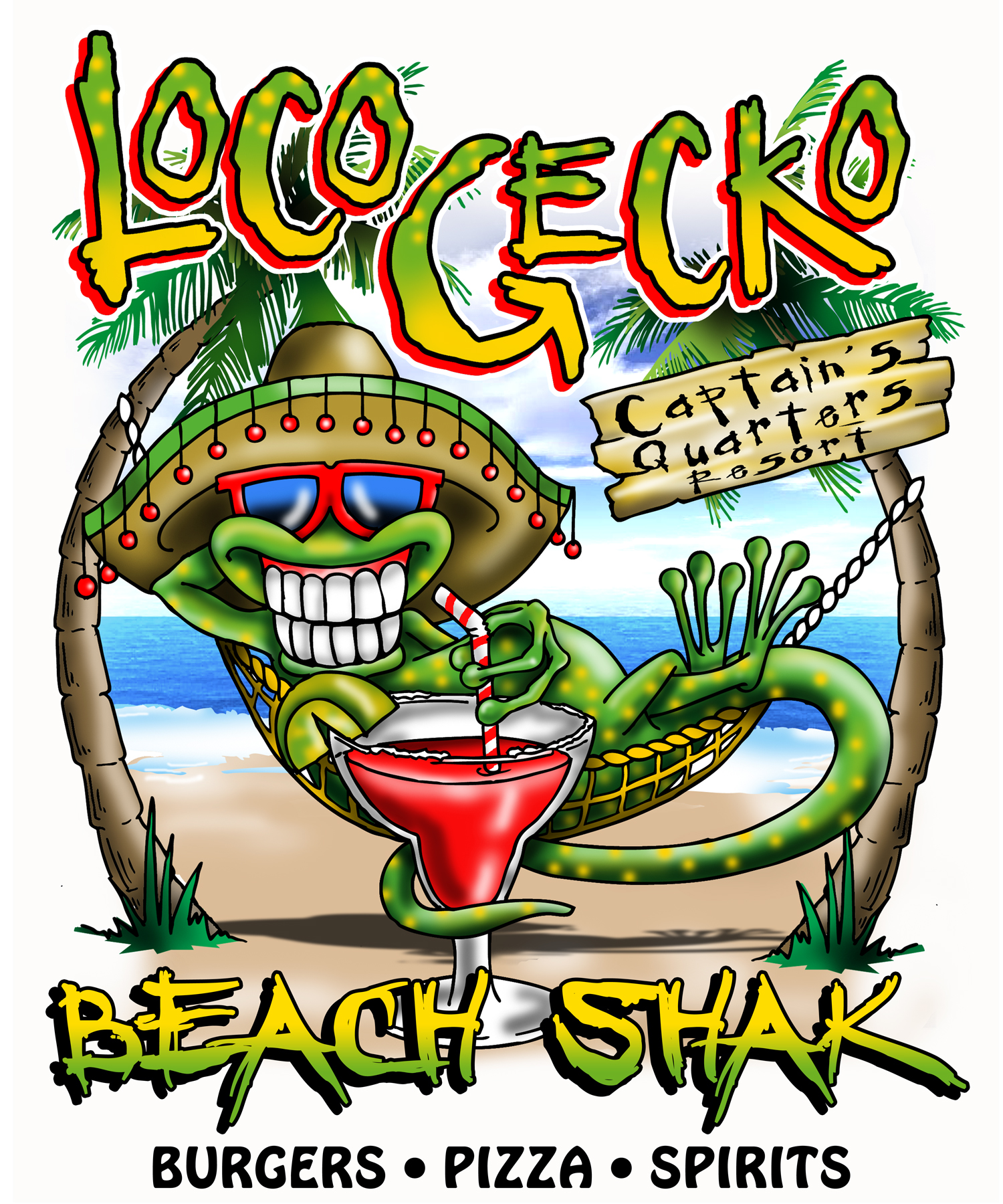 Loco Gecko - Captains Quarters Location