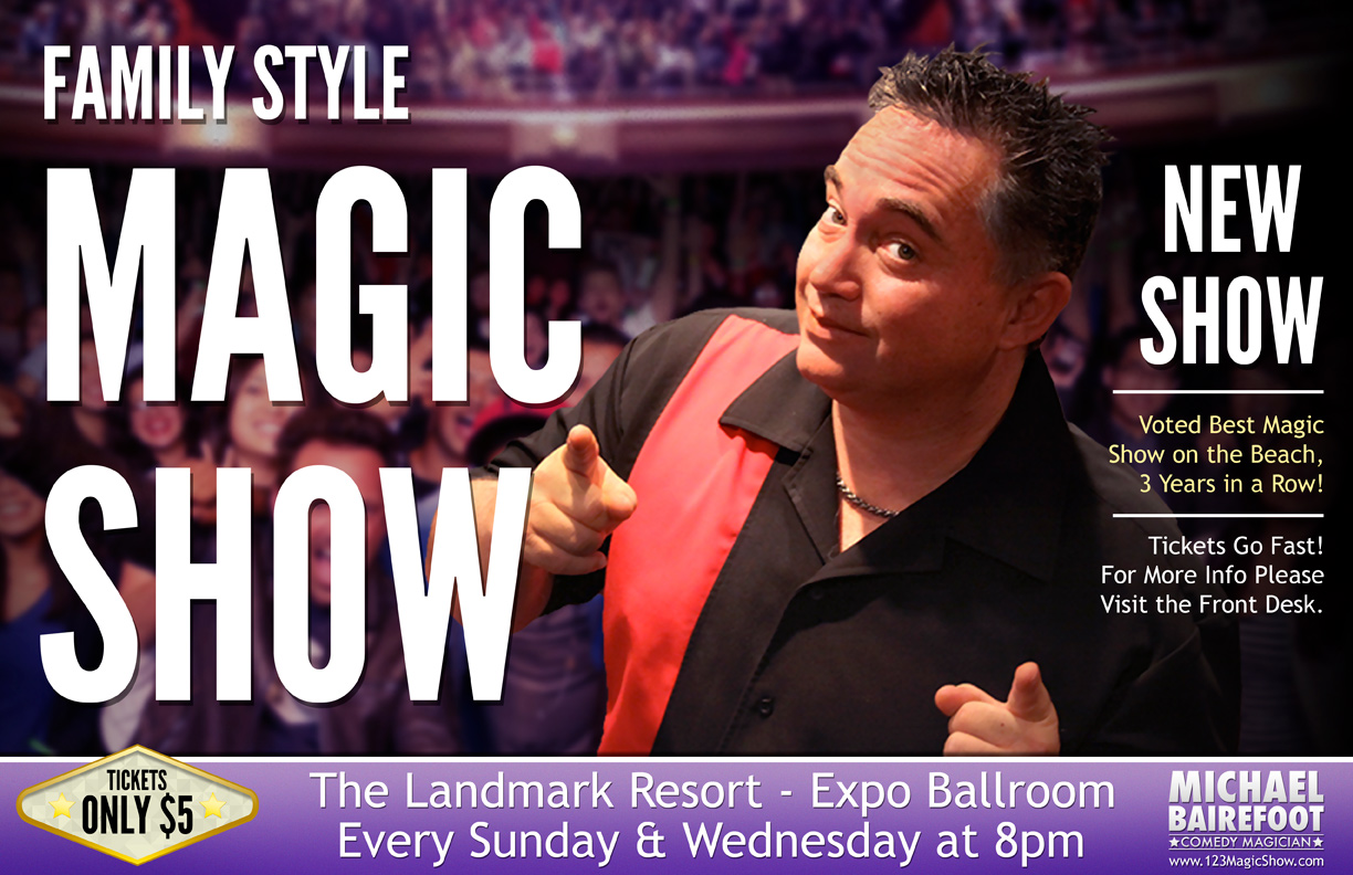 Magic Show at Landmark Resort during the summer