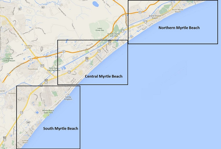 Faq Difference Between Central North And South Myrtle