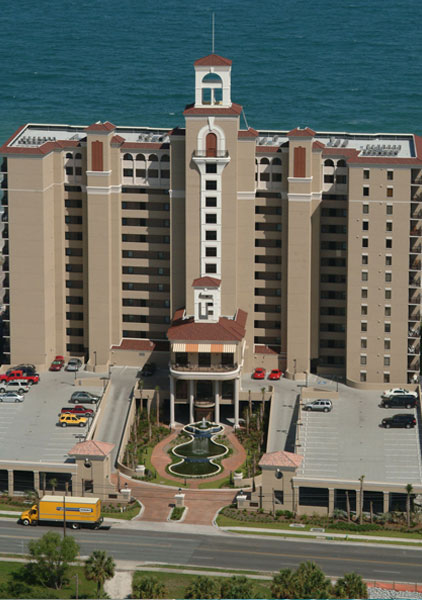 South Wind On The Ocean Hotel As Seen From Above Boulevard In Myrtle Beach