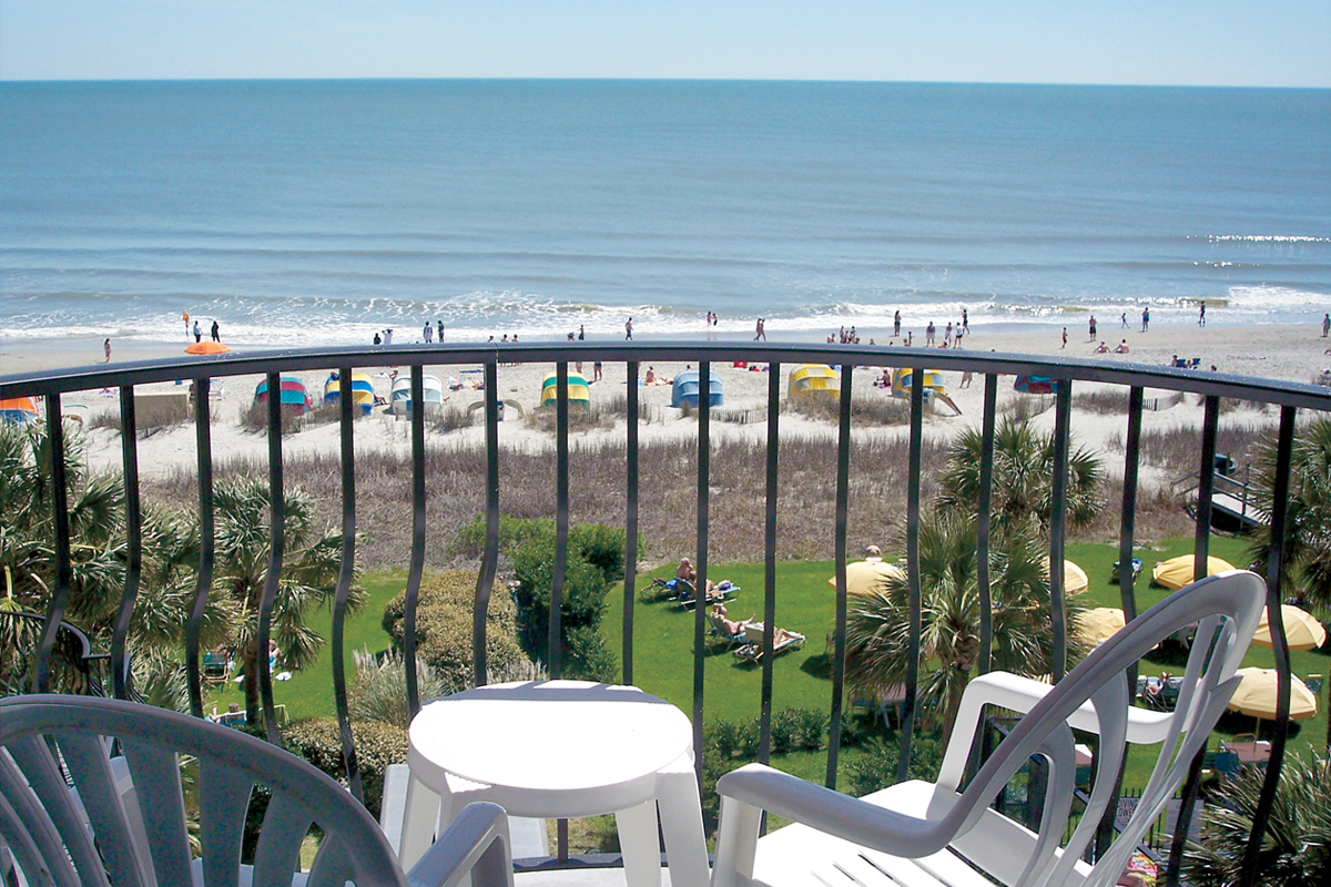 oceanfront condo view at south wind on the ocean resort