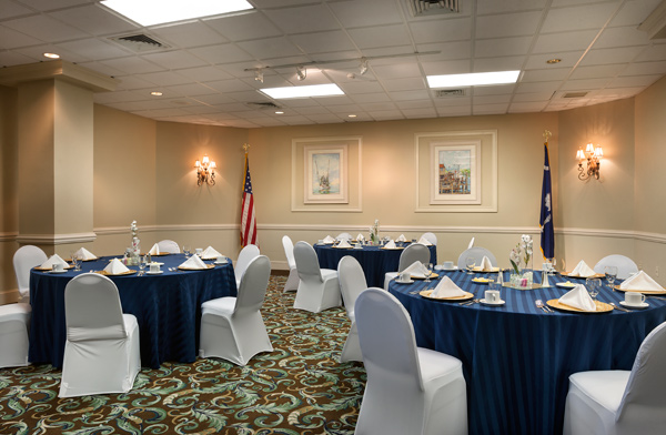 Banquet Set Up For Military Reunion at Beach Cove Resort