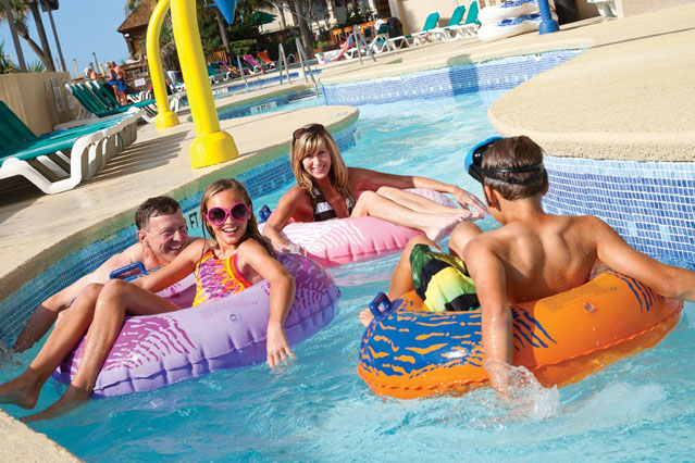 beach cove outdoor lazy river
