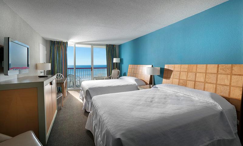 Renovated room at Crown Reef Resort.