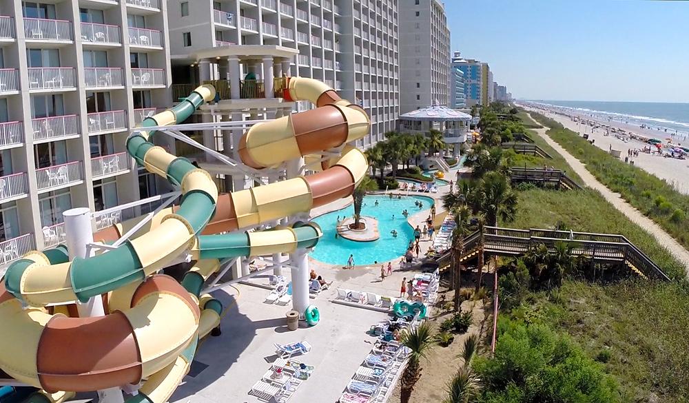 Oceanfront resort waterpark in Myrtle Beach