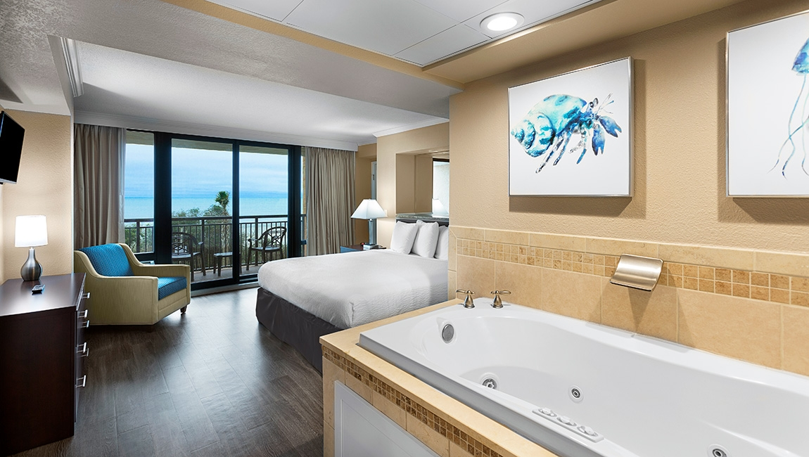 caravelle resort's jacuzzi jetted bathtub suite