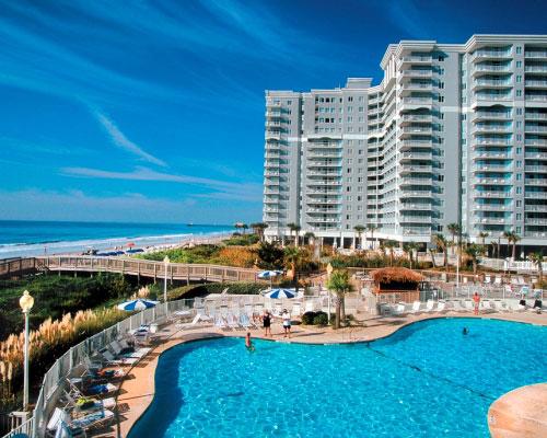 oceanfront pool deck at sea watch resort myrtle beach